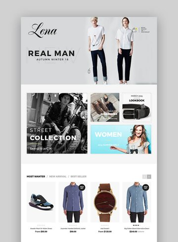 Lena clothing Shopify Theme