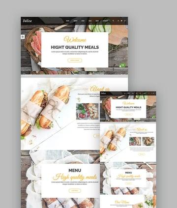 Delice Modern Restaurant Template