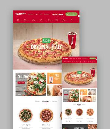 Pizzaro Pizza Template
