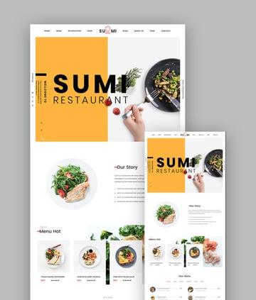 Sumi Simple Restaurant Template