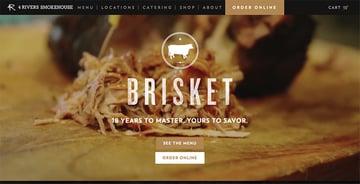 4 Rivers Smokehouse restaurant website