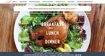 Maialino restaurant website