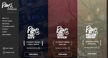 Rays Restaurant website