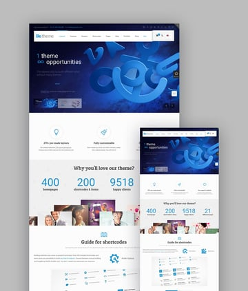 Be HTML5 responsive template