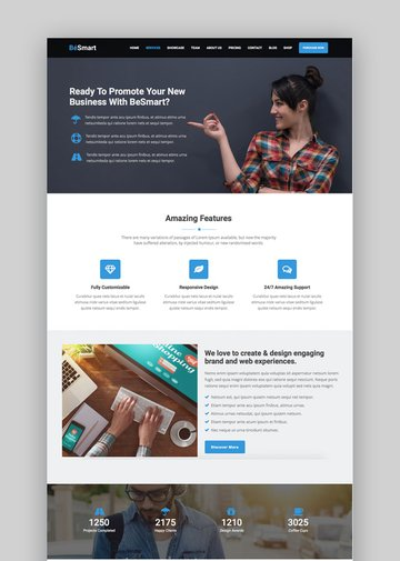 BeSmart Landing Page theme