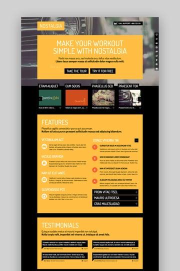 Nostalgia WordPress Landing Page