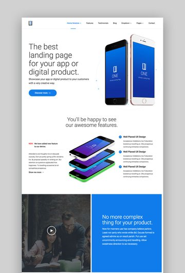One Landing Page Theme
