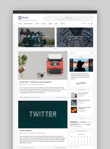 Durja WordPress theme