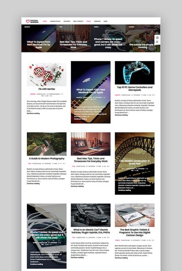 Passion Blogger video sharing WordPress theme