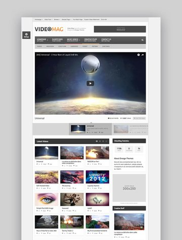 VideoMag video sharing WordPress theme