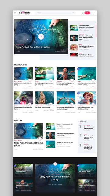 goWatch WordPress theme