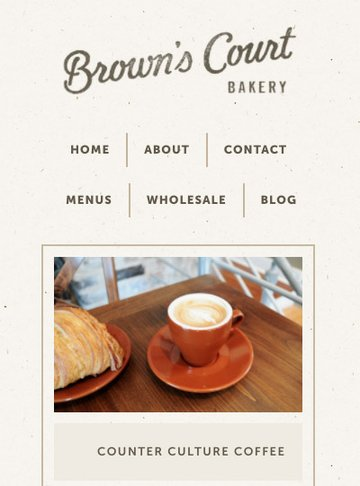 Browns Court Bakery mobile