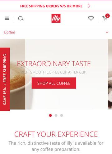 Illy Italian Coffee mobile