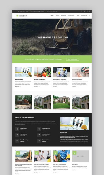 Construct WordPress construction theme