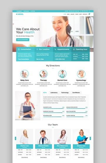 Medel Gesundheit und medizinisches WordPress-Theme