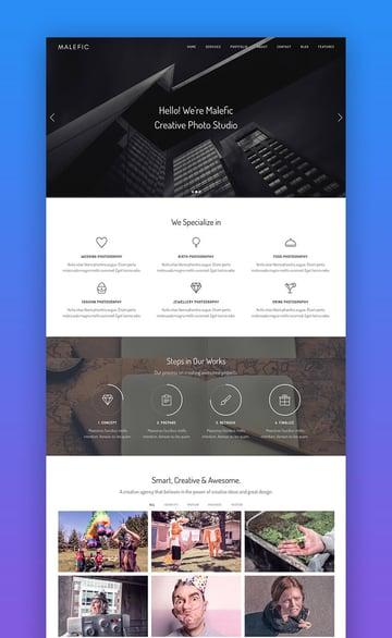 Malefic SEO-friendly WordPress template