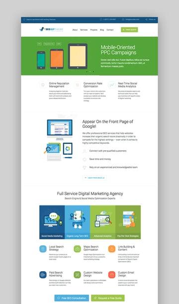SEO WP feature-rich WordPress theme
