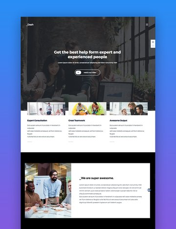 Dash wordpress business theme