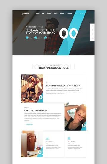 Jevelin creative WordPress theme