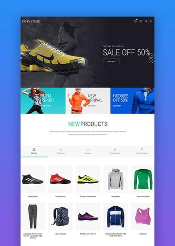 Cosi e-commerce Protein WordPress theme