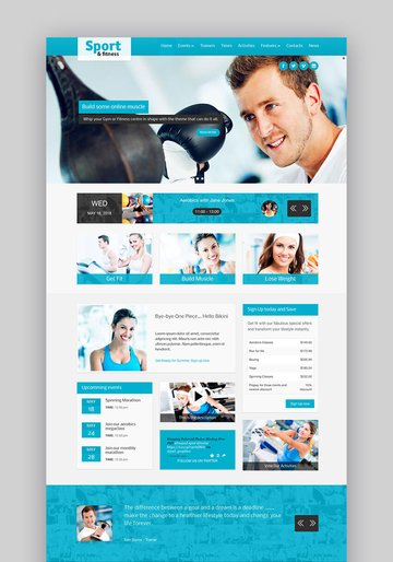 Sport and Fitness WordPress Theme