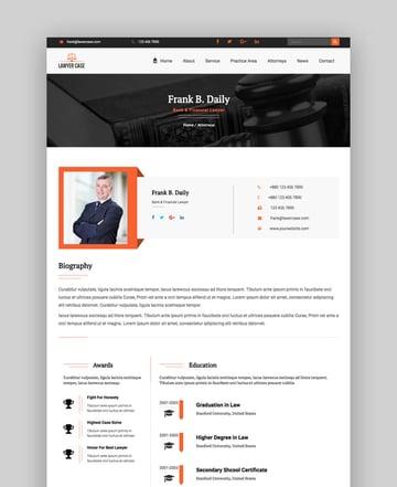 Lawyer Case website template