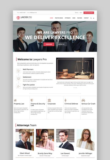 Lawyer Pro responsive HTML template
