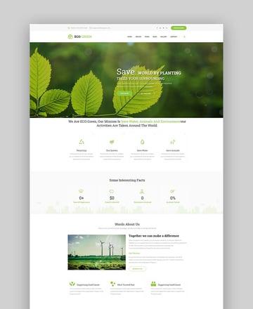 Eco Green modern Drupal theme