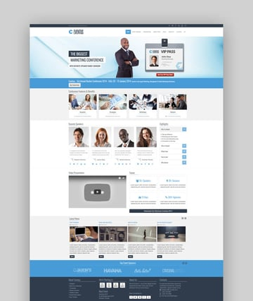 Eventus Joomla template