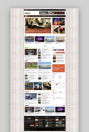 Newsline responsive blog and magazine template