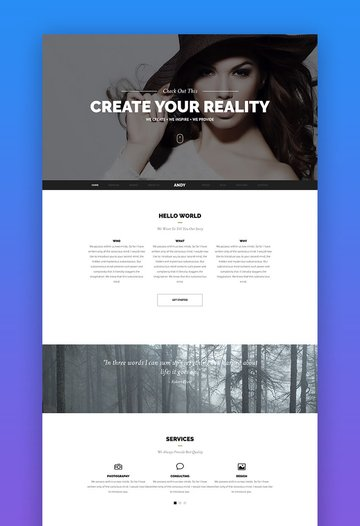 Andy one page Joomla template