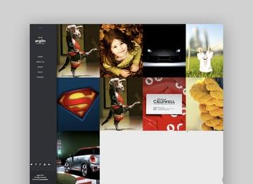 Argon fullscreen template for Joomla