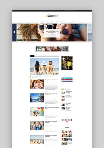 Lifeblog personal lifestyle blog for Joomla