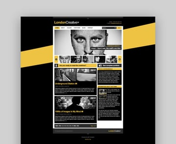 London Creative Joomla blog and portfolio template