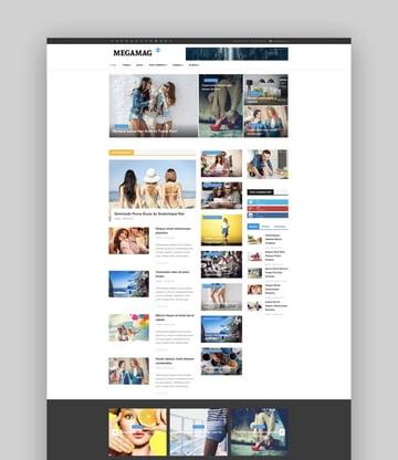 MegaMag Joomla magazine template