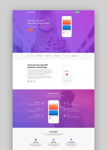 Applandy Bootstrap app landing page template