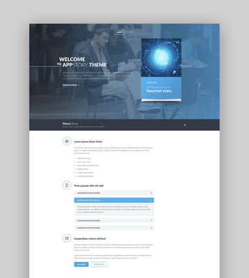 AppStory mobile app and ebook landing page design