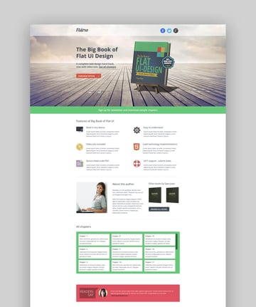 Flatro ebook landing page template