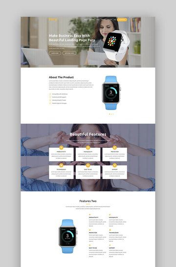 Fury product landing page template