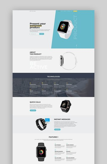 Oli product landing page template