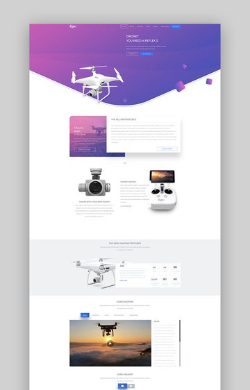 Reflex product launch landing page template