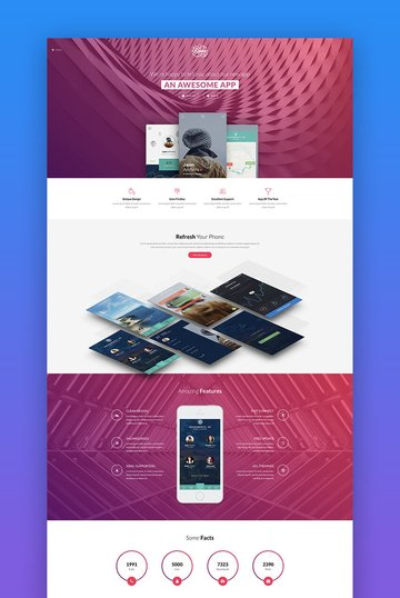 Riven product landing page template