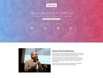 Eventoz Free Event Landing Page