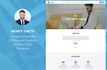 Envato Elements Resume Website Example