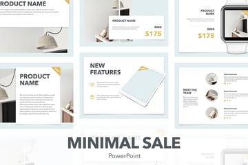 Minimal Sale Premium PowerPoint Template