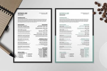 ResumeCV Template 1 From Envato Elements