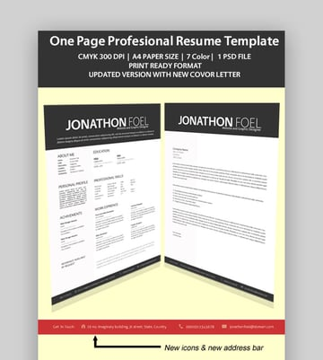 7x1 Professional One Page Resume