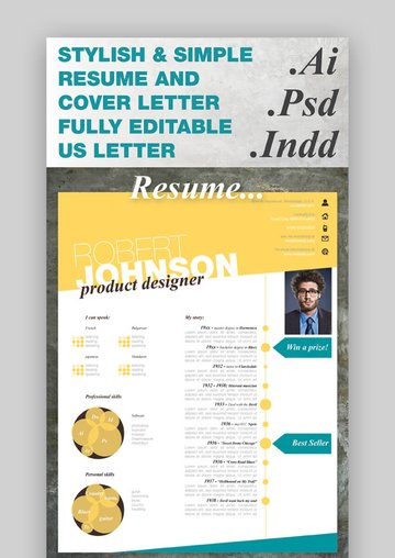 Stylish One Page CV Resume
