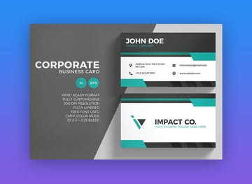 Corporate Business Card Template on Envato Elements