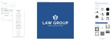 Choosing law office logo fonts